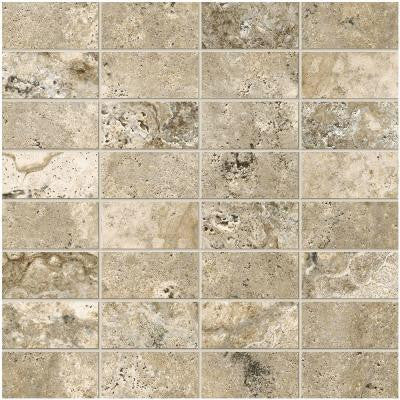 Travisano Bernini 12 in. x 12 in. x 8 mm Porcelain Mosaic Floor and Wall Tile