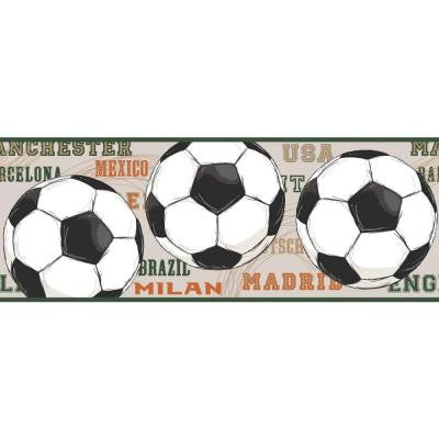 9 in. Cool Kids Soccer Border
