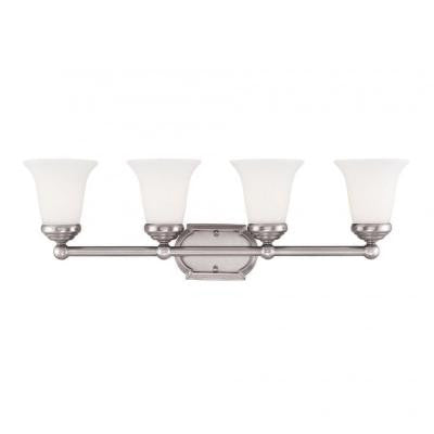 Bret 4-Light Pewter Bath Vanity Light