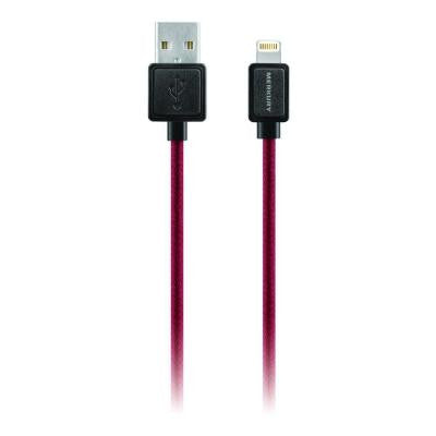 Threads 5 ft. Apple MFI Certified Lightning Fabric Cable with 8-Pin - Red