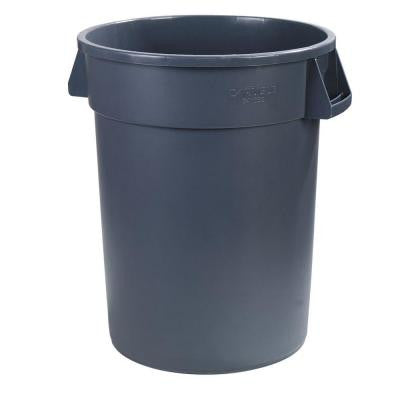 Bronco 32 Gal. Gray Round Trash Can (4-Pack)