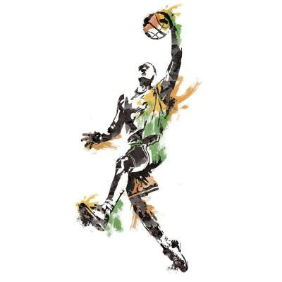 22.5 in. x 52 in. Men's Basketball Champion Peel and Stick Giant Wall Decal