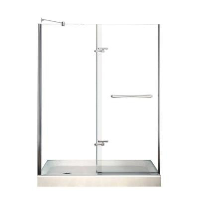 Reveal 32 in. x 60 in. x 76-1/2 in. Shower Stall in White