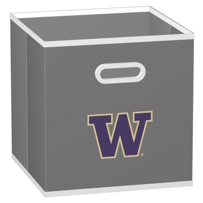 College STOREITS University of Washington 10-1/2 in. x 10-1/2 in. x 11 in. Grey Fabric Storage Drawer