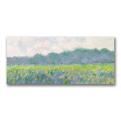 20 in. x 47 in. Field of Yellow Irises at Giverny Canvas Art