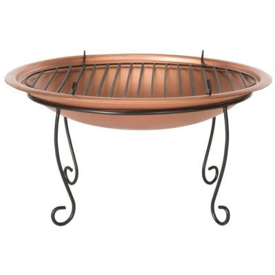 Cayman 29 in. Iron Fire Pit in Copper and Black