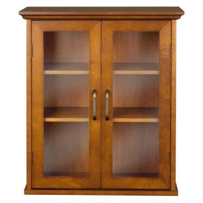 Aida 24 in. H x 20.5 in. W x 08.5 in. D Wall Cabinet in Oil Oak Color