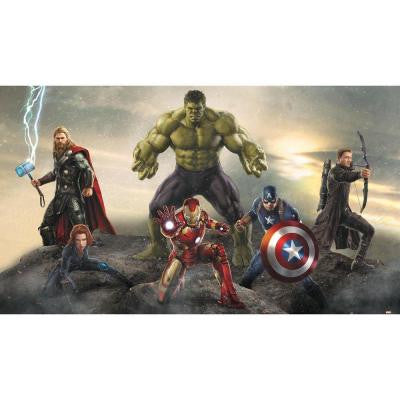 72 in. x 126 in. Avengers Age of Ultron Ground Attack 7-Panel Pre-Pasted XL Surestrip Wall Mural