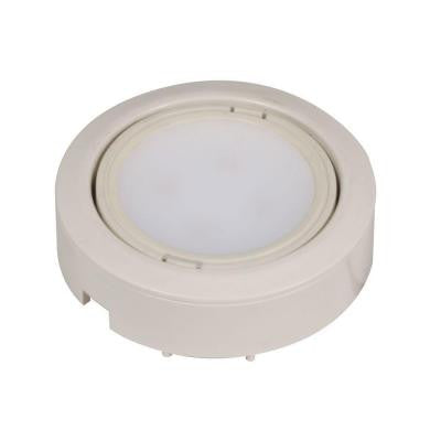 5-Light White LED Puck Light Kit