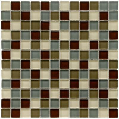 Tessera Square Canopy 11-3/4 in. x 11-3/4 in. x 8 mm Glass Mosaic Wall Tile