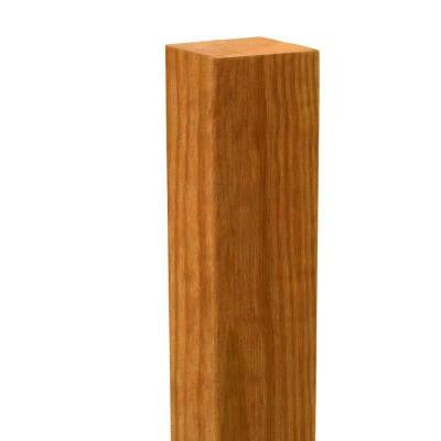4 in. x 4 in. x 4-1/2 ft. Cedar Eased Edge Deck Post