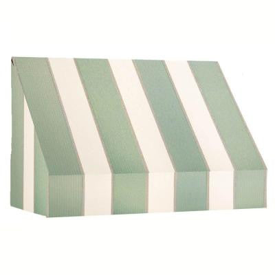 14 ft. New Yorker Window/Entry Awning (44 in. H x 36 in. D) in Sage/Linen/Cream Stripe