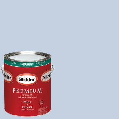1 gal. #HDGV23 Blue Silk Semi-Gloss Interior Paint with Primer