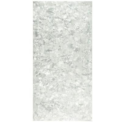 Nautilus Panorama Opaline 11-3/4 in. x 23-3/4 in. Glass Wall Tile