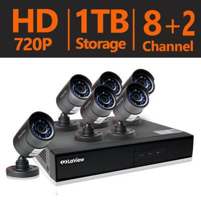 8-Channel 1TB HDD Indoor/Outdoor Day Night Surveillance System and (6) HD 720P Camera 1 Bonus Channel Remote View