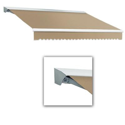 16 ft. Destin-AT Model Manual Retractable Awning with Hood (120 in. Projection) in Linen Pin