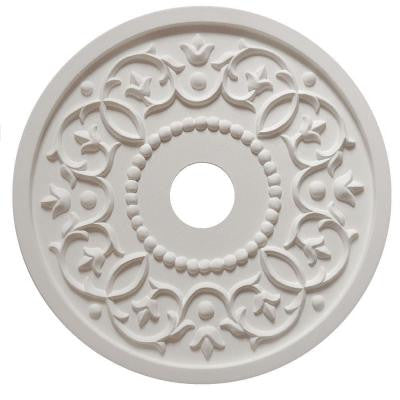 MRC Collection 18 in. x 18 in. x 1/2 in. Round Vine Lightweight Resin Primed White Ceiling Medallion