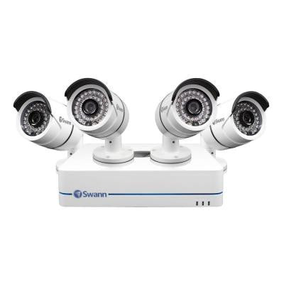 4-Channel Professional Security System 720p Network Video Recorder and 4 x HD Cameras