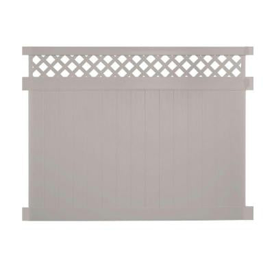Colfax 5 ft. x 8 ft. Tan Vinyl Privacy Fence Panel