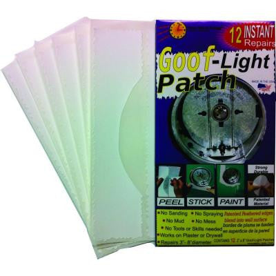 1-1/2 in. x 8 in. Self Adhesive Smooth Goof-Light Patch Ceiling Can Light 12 Repair Patch Kit (10-Pack)