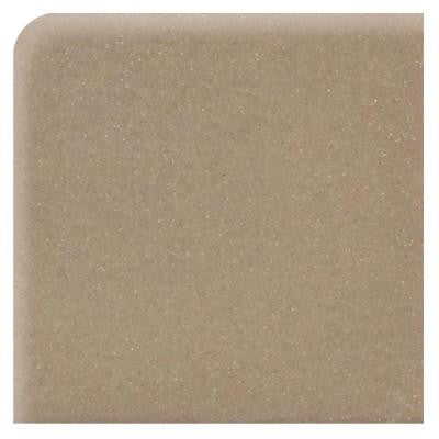 Modern Dimensions Matte Elemental Tan 4-1/4 in. x 4-1/4 in. Ceramic Bullnose Corner Wall Tile