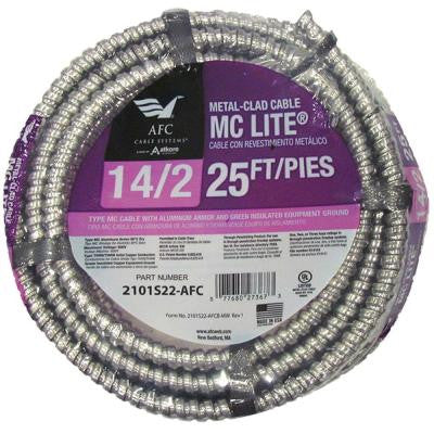 25 ft. 14-2 Solid MC Lite Cable