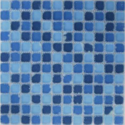 Oceanz Southern Tumbled Matte Glass 12 in. x 12 in.Mesh Mounted Floor & Wall Tile (5 sq. ft. / case)