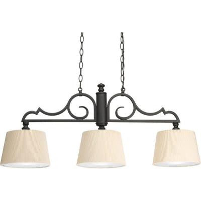 Meeting Street Collection 3-Light Forged Black Chandelier