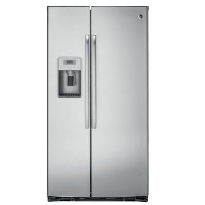 Profile 22.1 cu. ft. Side by Side Refrigerator in Stainless Steel, Counter Depth