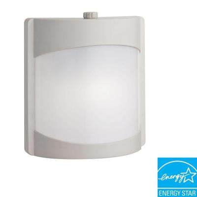 White Outdoor Fluorescent Wall-Mount Contemporary Light