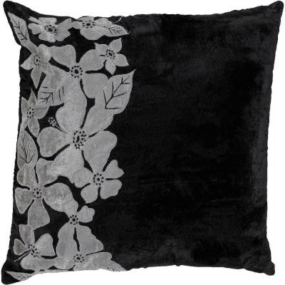 FloralC 18 in. x 18 in. Decorative Down Pillow