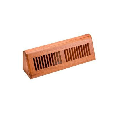 4.5 in. x 15 in. Wood Brazilian Cherry Natural Finish Base Board Diffuser