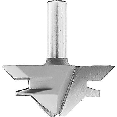 Carbide-Tipped 2-Flute 45° Lock Miter Router Bit with 1/2 in. Shank