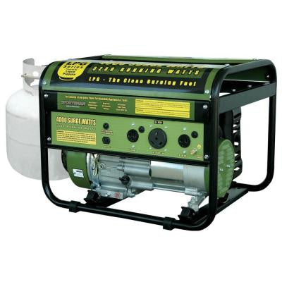 4,000-Watt Clean Burning LPG Propane Gas Portable Generator with CARB Compliant