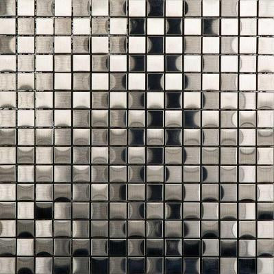 Metal Acero Mosaic Tile 12 in. x 12 in. x 7.94 mm Metal Mosaic Tile
