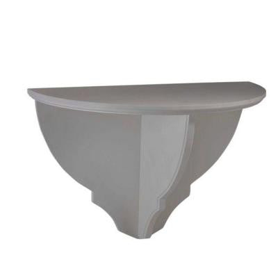 Solutions 16.5 in. H x 24.75 in. W Cement Gray Wall Decorative Shelf