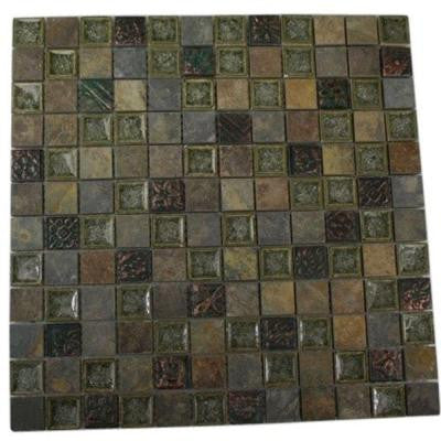 Roman Selection Rural Trail 12 in. x 12 in. x 8 mm Glass Mosaic Floor and Wall Tile