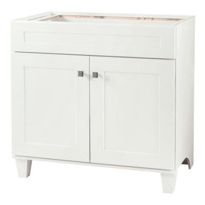 Creeley 36 in. Vanity Cabinet Only in Classic White