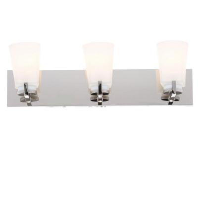 Wellman 3-Light Polished Nickel Bath Light