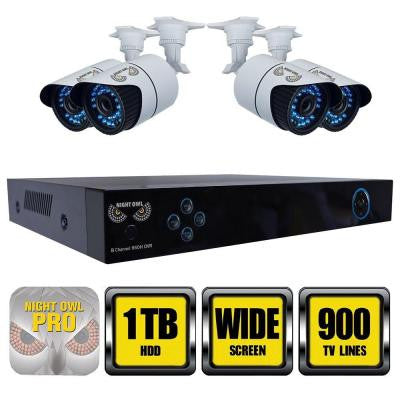 X100 Series 8-Channel 960H Surveillance System with 1TB HDD and (4) Hi-Resolution 900 TVL Cameras