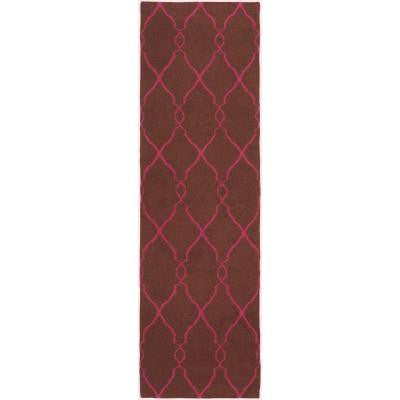 Jill Rosenwald Chocolate 2 ft. 6 in. x 8 ft. Flatweave Rug Runner