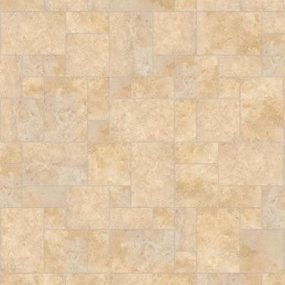 10 ft. Wide Castle Travertine Vinyl Universal Flooring Your Choice Length