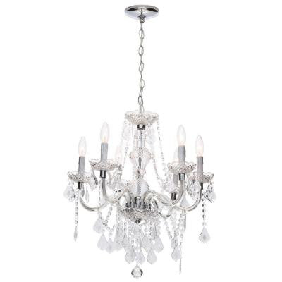 Maria Theresa 6-Light Chrome Chandelier