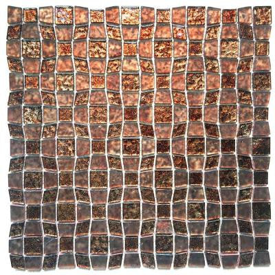 Peel and Stick 12 in. x 12 in. x 5 mm Glass Mosaic Tile