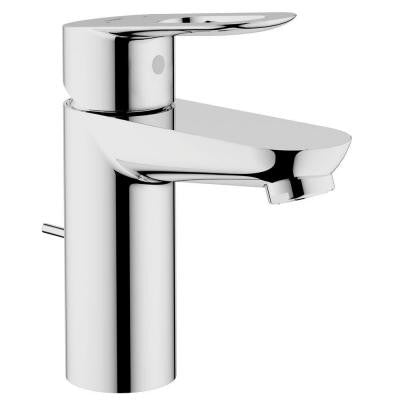 BauLoop Basin Mixer 4 in. Centerset 1-Handle OHM Bathroom Faucet in StarLight Chrome with Pop-Up (Valve Not Included)