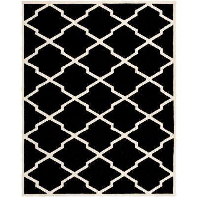 Chatham Black/Ivory 8 ft. x 10 ft. Area Rug