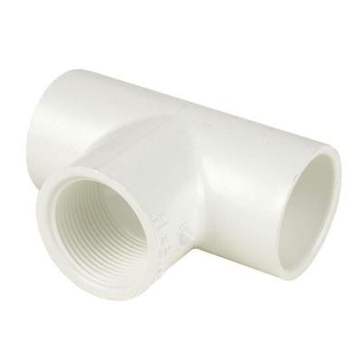4 in. x 4 in. x 3 in. Schedule 40 PVC Reducing Tee SxSxFPT