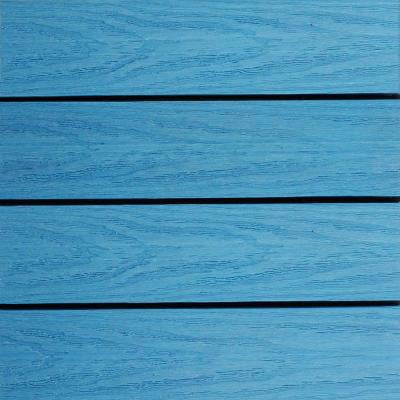 UltraShield Naturale 1 ft. x 1 ft. Outdoor Composite Quick Deck Tile Sample in Caribbean Blue