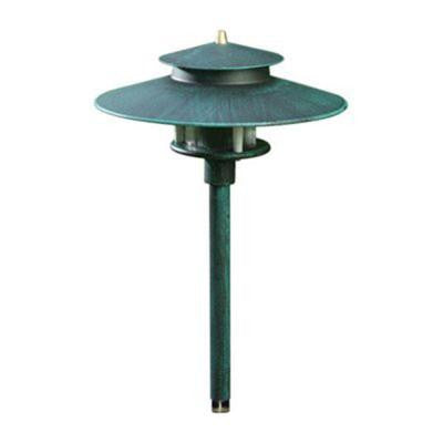 Ayan 1-Light Patina Green Outdoor Pathway Light