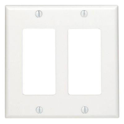 Decora 2-Gang Wall Plate - White